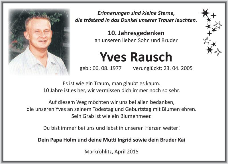 Yves Rausch Brief